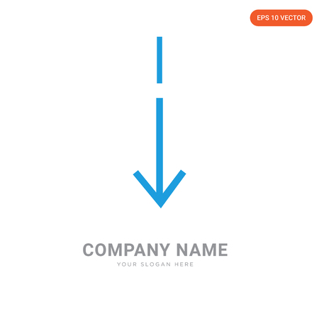 Slim down company logo design template, Slim down logotype vector icon, business corporative Vettoriali