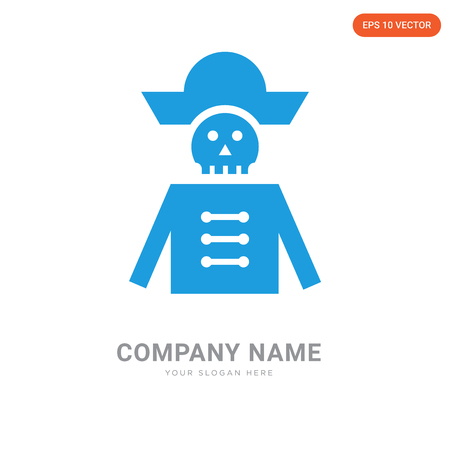 Pirate company logo design template, Pirate logotype vector icon, business corporative