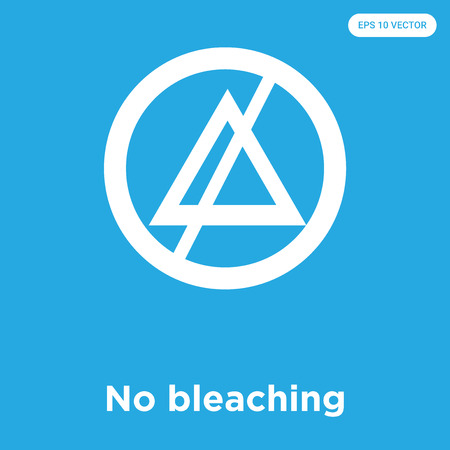 No bleaching vector icon isolated on blue background, sign and symbol, No bleaching icons collection Иллюстрация