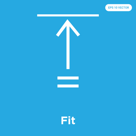 Fit vector icon isolated on blue background, sign and symbol, Fit icons collection