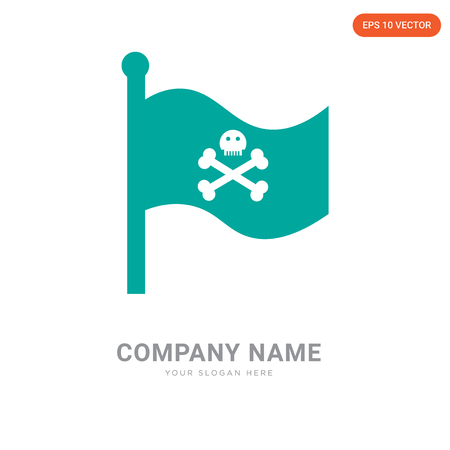 Flag company logo design template, Flag logotype vector icon, business corporative