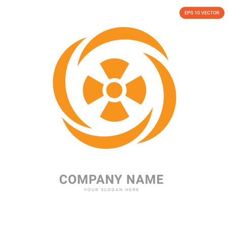 Toxic Waste company logo design template, Toxic Waste logotype vector icon, business corporative