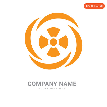 Toxic Waste company logo design template, Toxic Waste logotype vector icon, business corporative