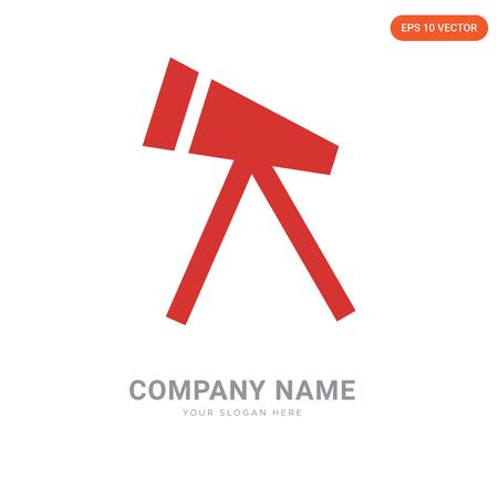 Telescope company logo design template, Telescope logotype vector icon, business corporative Ilustração