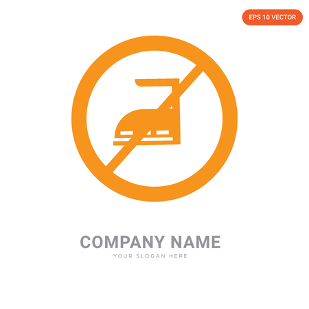 No ironing company logo design template, No ironing logotype vector icon, business corporative