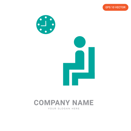Waiting room company logo design template, Waiting room logotype vector icon, business corporative Vettoriali