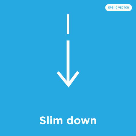 Slim down vector icon isolated on blue background, sign and symbol, Slim down icons collection