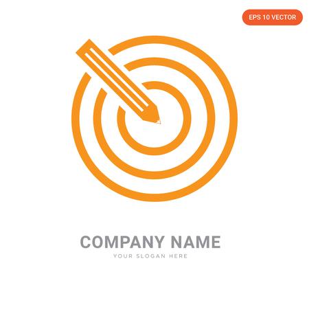 Target company logo design template, Target logotype vector icon, business corporative