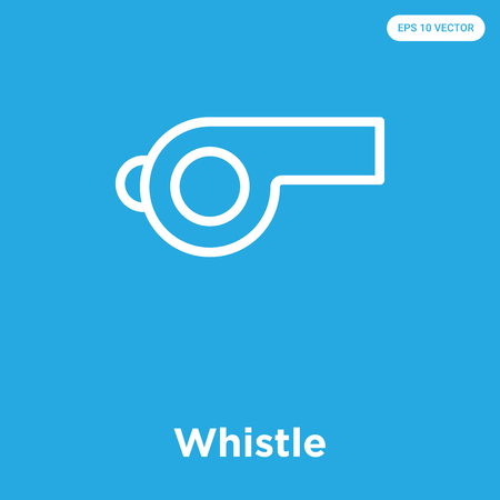 Whistle vector icon isolated on blue background, sign and symbol, Whistle icons collection