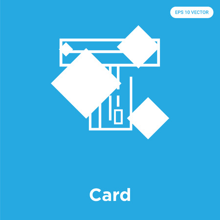 Card vector icon isolated on blue background, sign and symbol, Card icons collection Ilustrace