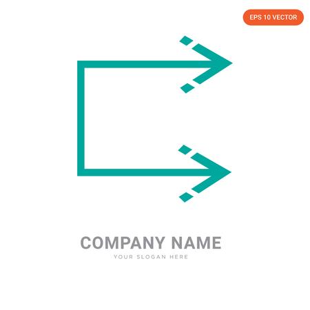 Shuffle company logo design template, Shuffle logotype vector icon, business corporative