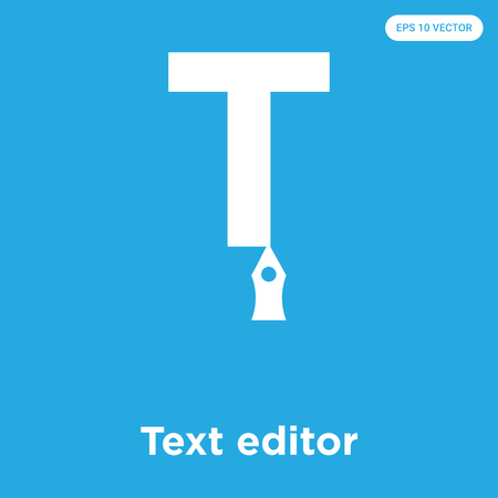 Text editor vector icon isolated on blue background, sign and symbol, Text editor icons collection Ilustrace