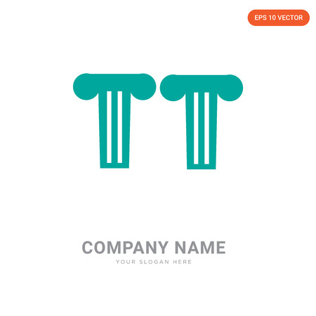Greek pillar company logo design template, Greek pillar logotype vector icon, business corporative Illustration