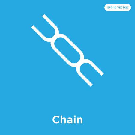 Chain vector icon isolated on blue background, sign and symbol, Chain icons collection Vektoros illusztráció