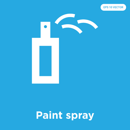 Paint spray vector icon isolated on blue background, sign and symbol, Paint spray icons collection Illustration