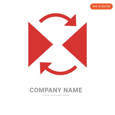 Reflect company logo design template, Reflect logotype vector icon, business corporative Иллюстрация