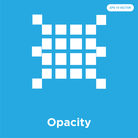 Opacity vector icon isolated on blue background, sign and symbol, Opacity icons collection