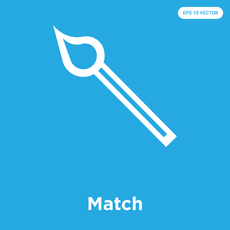 Match vector icon isolated on blue background, sign and symbol, Match icons collection 矢量图像