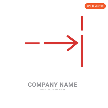 Fit company logo design template, Fit logotype vector icon, business corporative Stock Illustratie