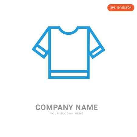 Referee striped sportive t shirt company logo design template, Referee striped sportive t shirt logotype vector icon, business corporative
