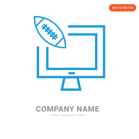 American football annotation company logo design template, American football annotation logotype vector icon, business corporative
