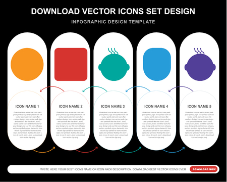 5 vector icons such as Confused smile, Nerd Crying Happy Faint smile for infographic, layout, annual report, pixel perfect icon