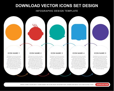 5 vector icons such as In love smile, Clown Rich Happy Confused smile for infographic, layout, annual report, pixel perfect icon Illustration