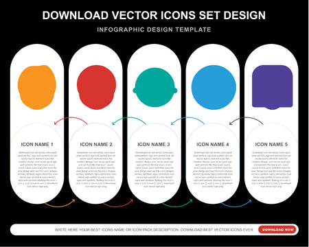 5 vector icons such as Harry potter smile, Dead Laughing Sceptic Angry smile for infographic, layout, annual report, pixel perfect icon