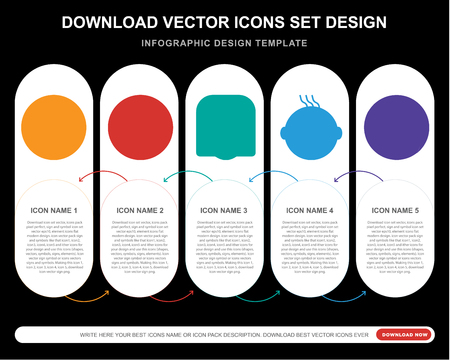 5 vector icons such as Angry smile, Sad Ti Laughing smile for infographic, layout, annual report, pixel perfect icon Vektoros illusztráció