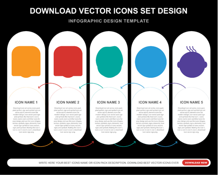 5 vector icons such as Angry smile, In love Harry potter Sca Joyful smile for infographic, layout, annual report, pixel perfect icon