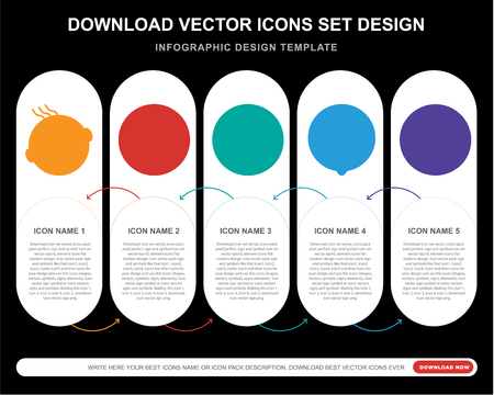 5 vector icons such as Angry smile, Smile Happy Wink Desperate smile for infographic, layout, annual report, pixel perfect icon