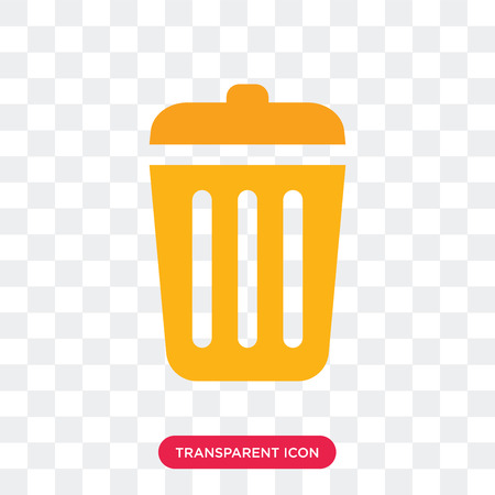 Trash vector icon isolated on transparent background, Trash logo concept Illustration