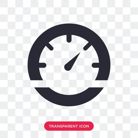 Vehicle speedometer vector icon isolated on transparent background, Vehicle speedometer logo concept