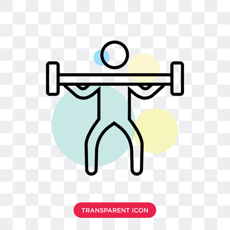 Weightlifting vector icon isolated on transparent background, Weightlifting logo concept Illustration