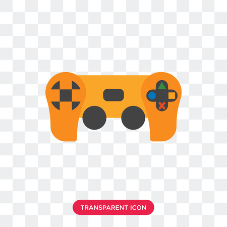 Game pad vector icon isolated on transparent background, Game pad logo concept Vectores