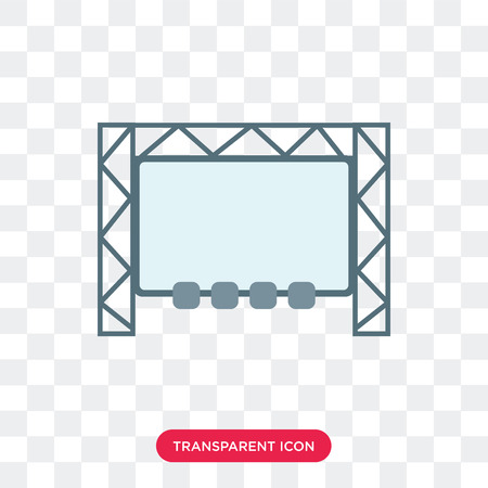 Big screen vector icon isolated on transparent background, Big screen logo concept