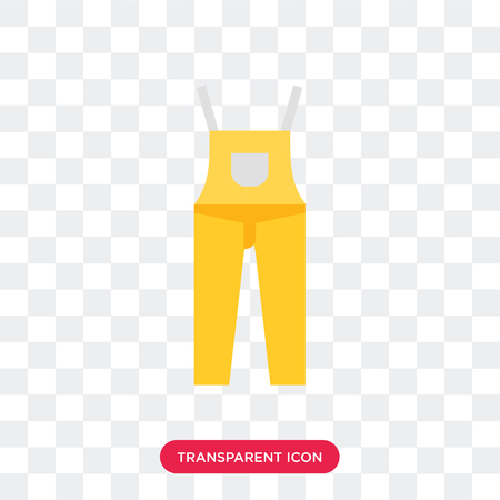 Dungarees vector icon isolated on transparent background, Dungarees logo concept