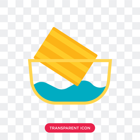Water soak vector icon isolated on transparent background, Water soak logo concept