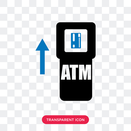 Atm vector icon isolated on transparent background, Atm logo concept