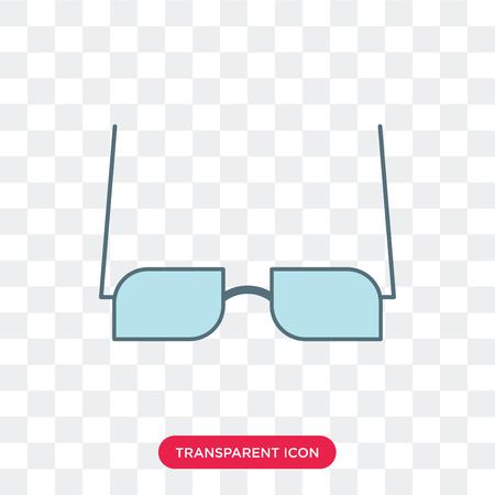 Eyeglasses vector icon isolated on transparent background, Eyeglasses logo concept