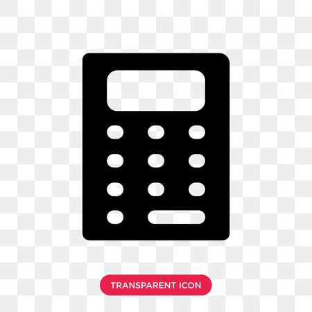 Calculator vector icon isolated on transparent background, Calculator logo concept Stock Illustratie