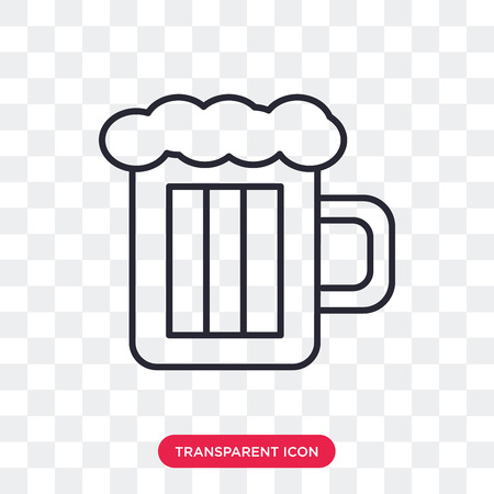 Beer vector icon isolated on transparent background, Beer logo concept