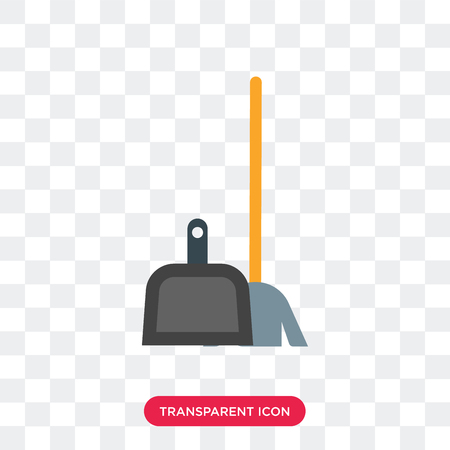 Broom vector icon isolated on transparent background, Broom logo concept