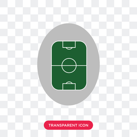 Football pitch vector icon isolated on transparent background, Football pitch logo concept
