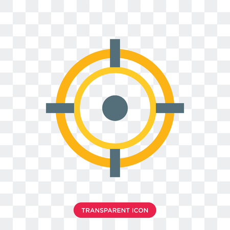 Aim vector icon isolated on transparent background, Aim logo concept Illustration