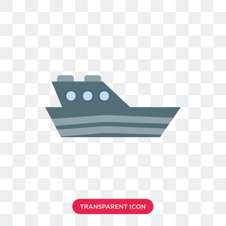 Yatch vector icon isolated on transparent background, Yatch logo concept