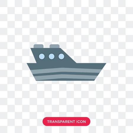 Icona di vettore di Yatch isolato su sfondo trasparente, concetto di marchio di Yatch