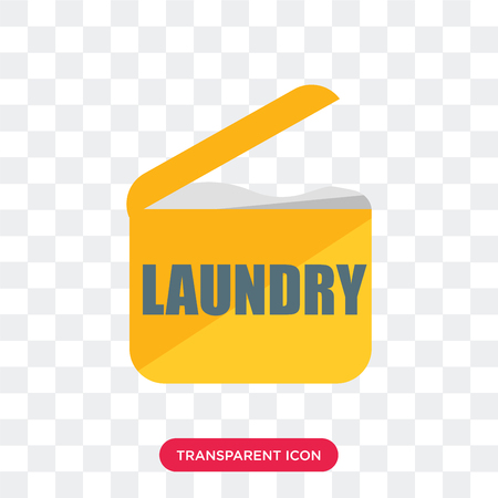 Laundry vector icon isolated on transparent background, Laundry logo concept