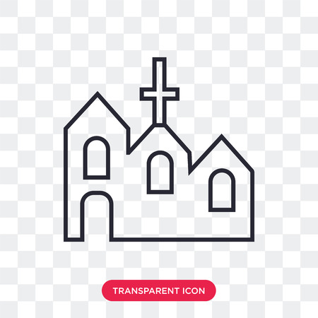 Church vector icon isolated on transparent background, Church logo concept