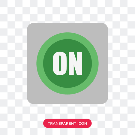 Button vector icon isolated on transparent background, Button logo concept